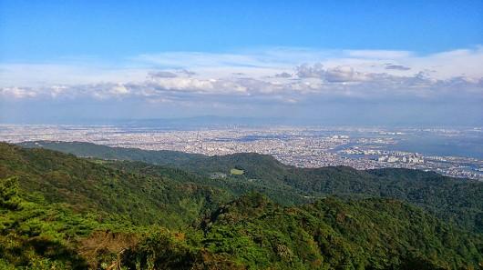 六甲山頂展望台からの眺め