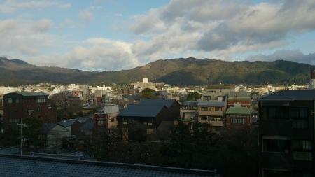 京都ホテルオークラから鴨川側を眺める
