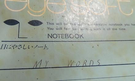 置き忘れられた言葉 – 20数年前のノート達