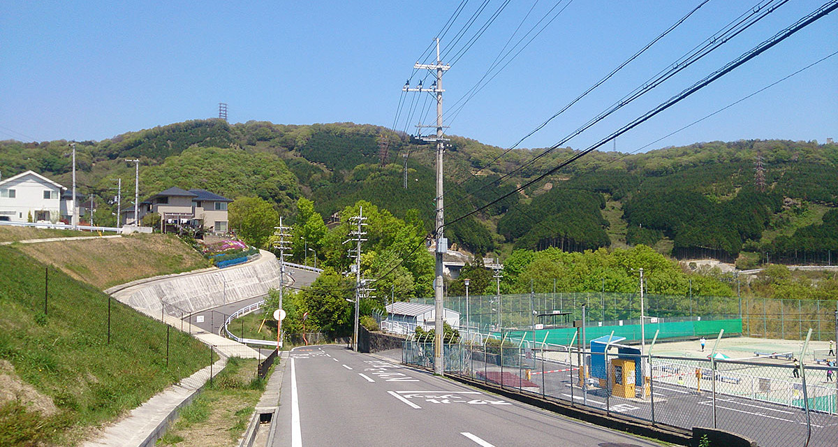 騒動の後 – 京都の昼の帰り道