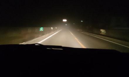 二ヶ月ぶりの姫路 – 霧の中の国道372号線