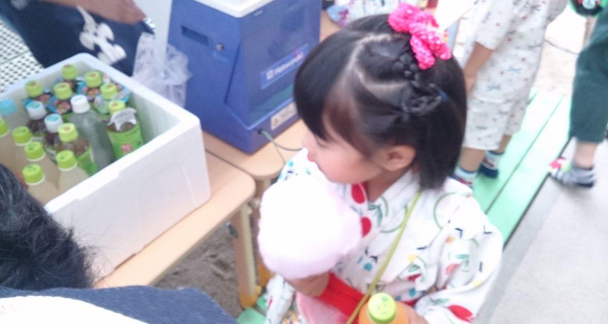 自分の手で感じる流通の手応え ― 保育園の夏祭り