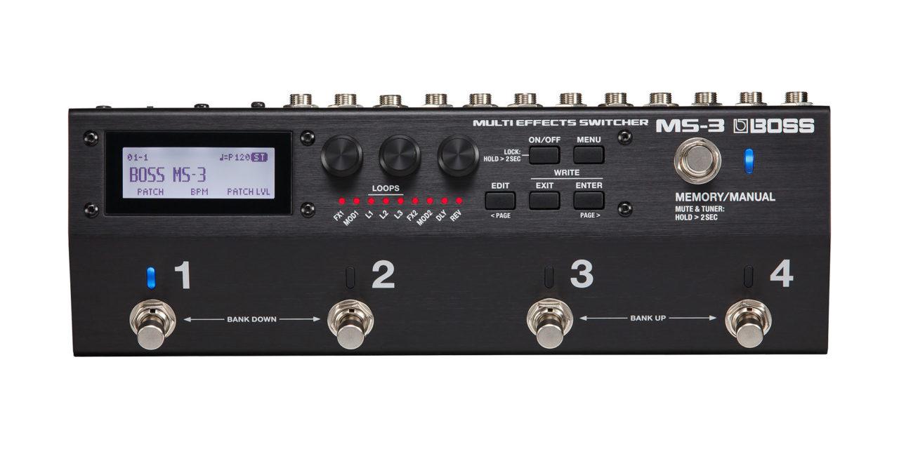 マルチエフェクトを内蔵したスイッチャー「MS-3」がBOSSから発売
