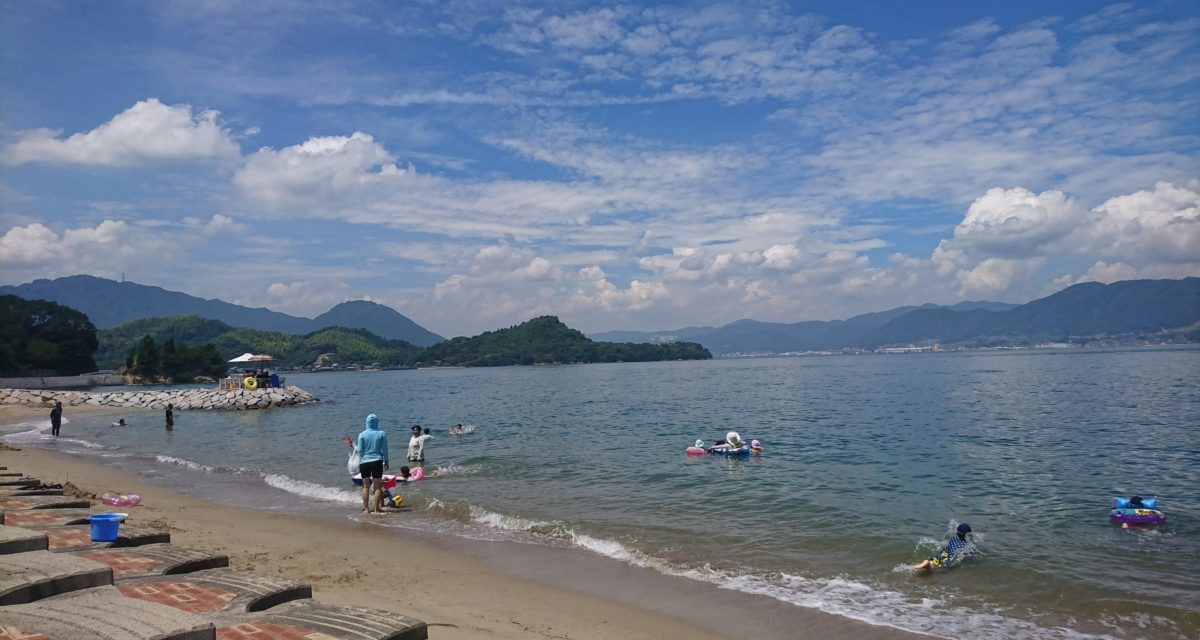 海原 ― さすが盆休みピーク、ビーチに人がいる!の巻