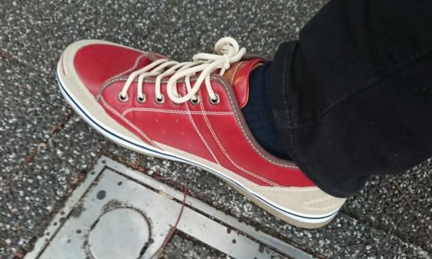 2020年の演奏納めの日、赤い靴を衝動買いする