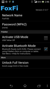 Activate Bluetooth Modeにチェックを入れてある。