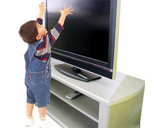 小さな怪獣、そして薄型テレビの破壊防止策