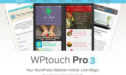 WPTouchが大幅アップデート – 1.xから一気にVer3.1.1に。